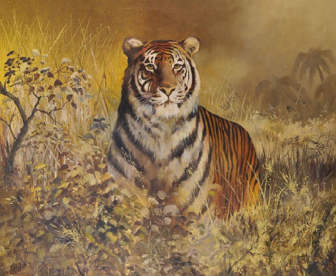 Bynn (20th Century) British. A Tiger in the