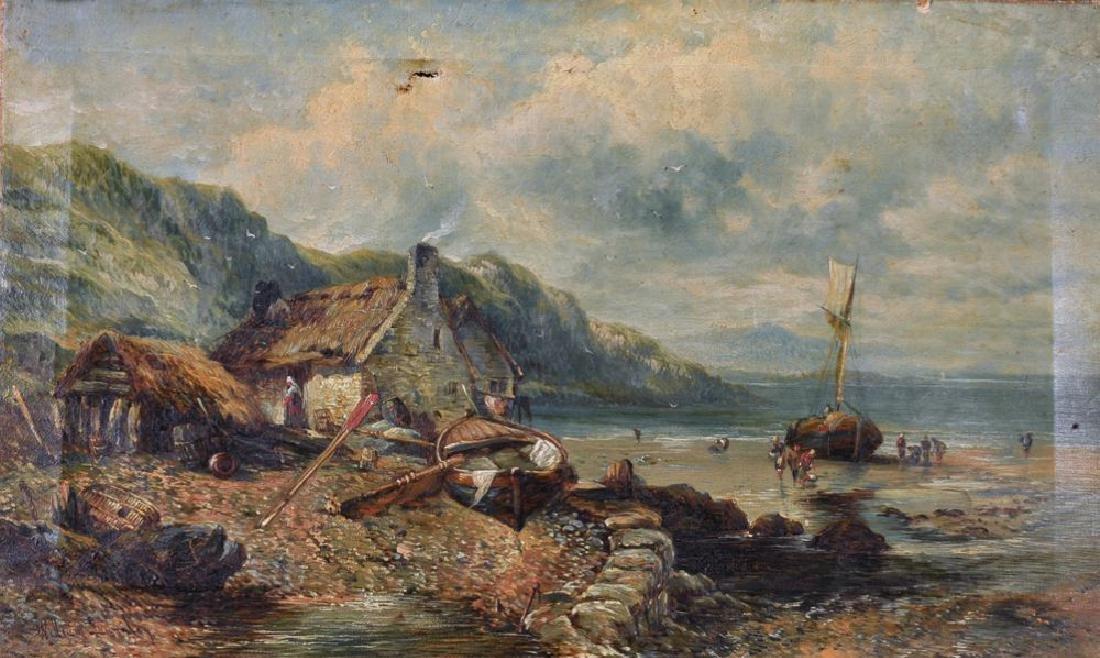 William Langley (act.1880-1920) British. A Coastal