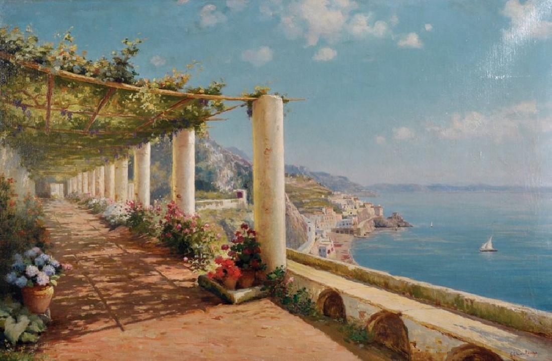 Giuseppe Chiarolanza (1868-1920) Italian. A Terraced