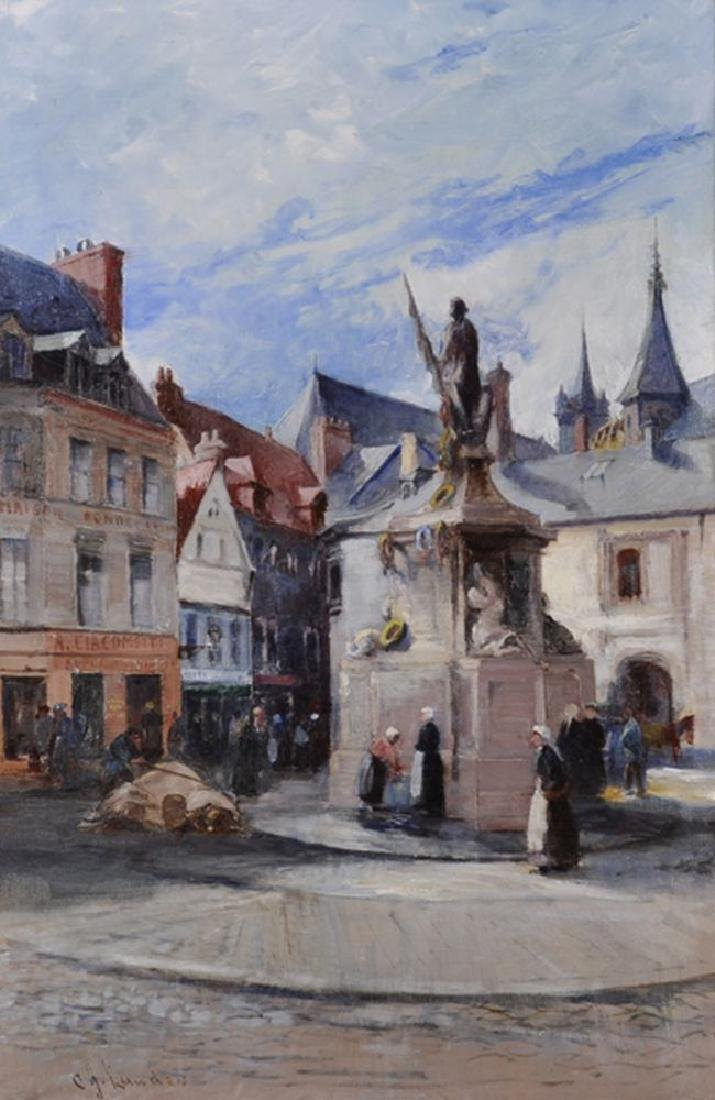 Charles James Lauder (1841-1920) British. A Dutch Town