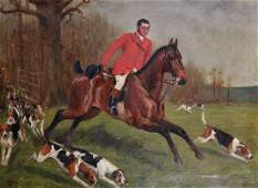 George Paice 18541925 British A Hunting Scene with