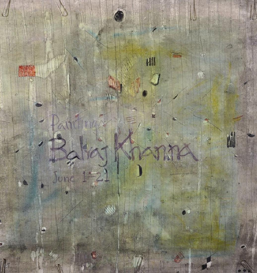 """Balraj Khanna (1940   ) Indian. """"Paintings Balraj"""
