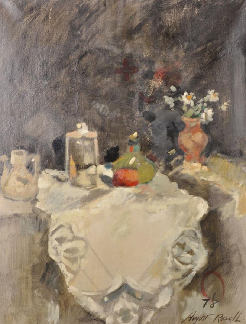 August Rosell (1951    ) European. Still life of