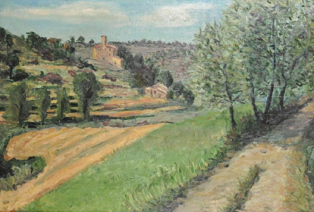 20th Century French School. An Extensive Landscape, Oil