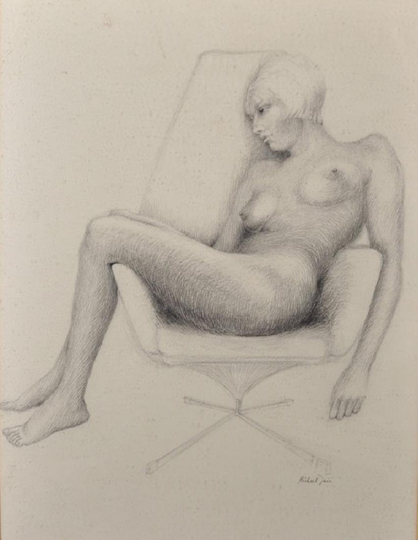 Michael Tain (1927    ) British. A Seated Female Nude,