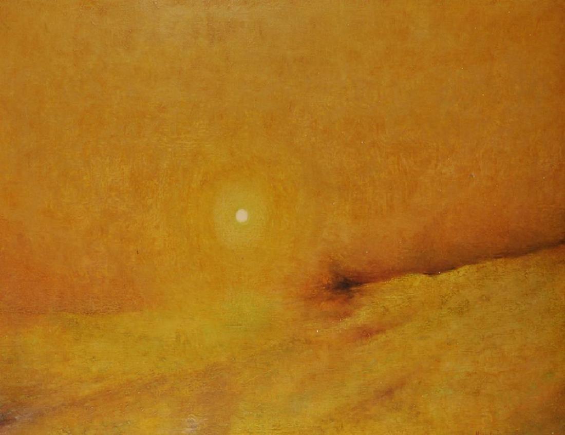 Michael Tain (1927    ) British. A Sunset Landscape,