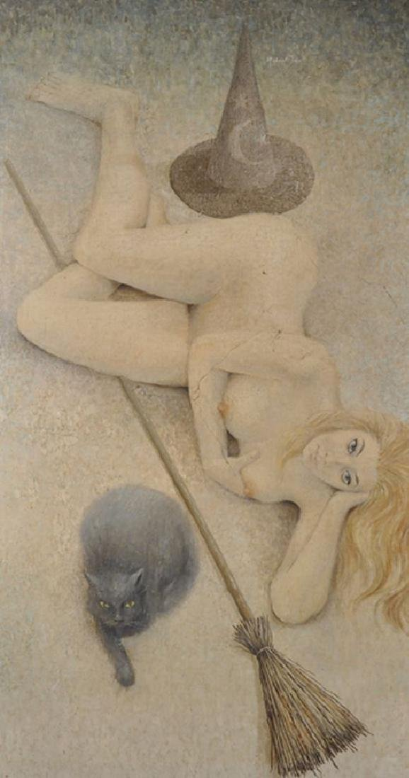 Michael Tain (1927    ) British. A Reclining Nude, with