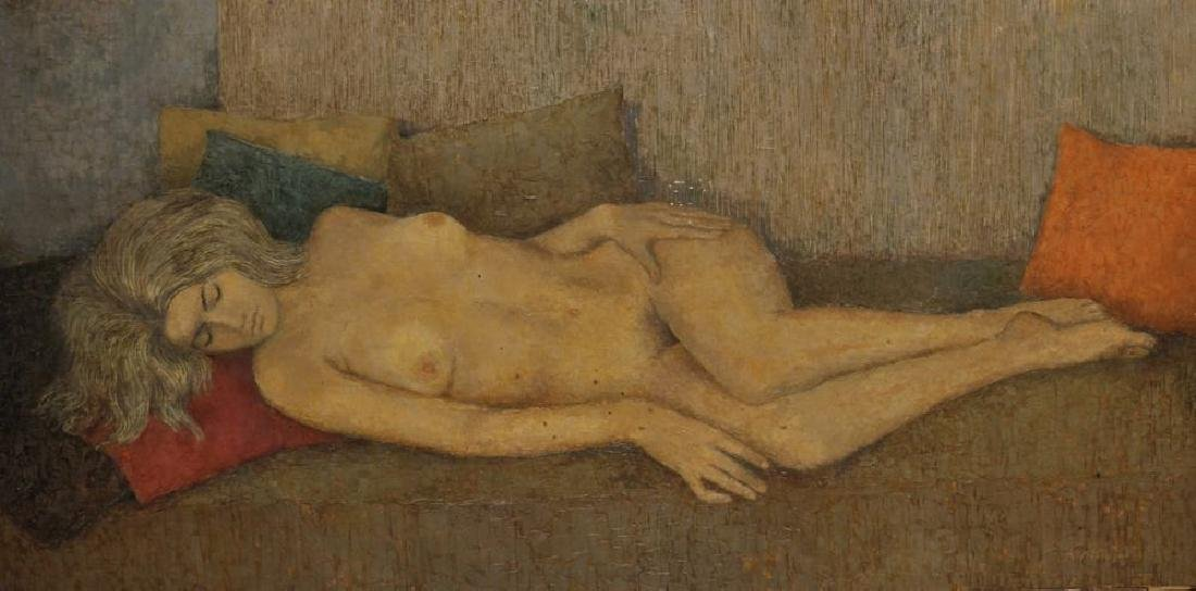 Michael Tain (1927    ) British. A Reclining Nude, Oil