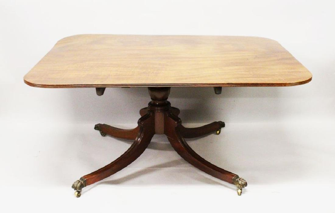 A GEORGE III MAHOGANY TILT TOP BREAKFAST TABLE, with