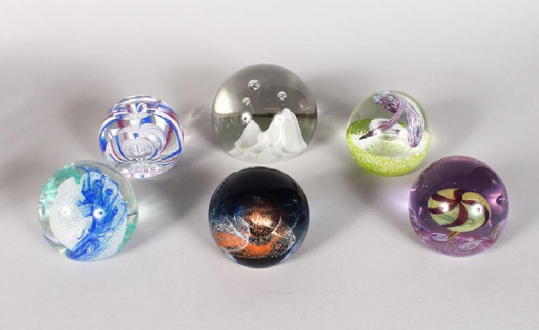 SIX VARIOUS CAITHNESS PAPERWEIGHTS.