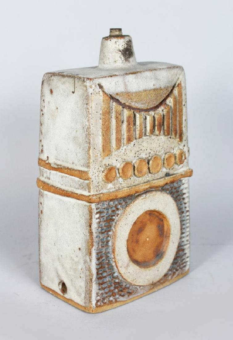 A STUDIO POTTERY LAMP BASE, CIRCA. 1960'S, of tapering - 2