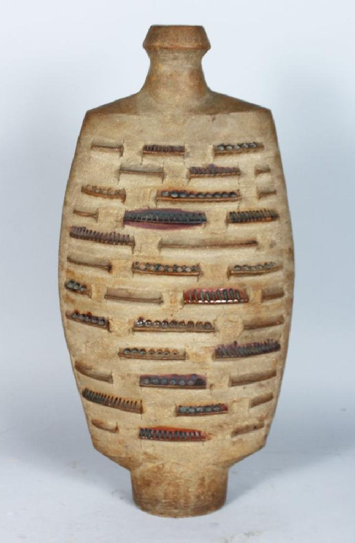 A LARGE STUDIO POTTERY VASE, CIRCA. 1960'S, of Cycladic