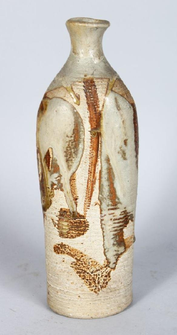 A STUDIO POTTERY VASE, CIRCA. 1960'S, of cylindrical