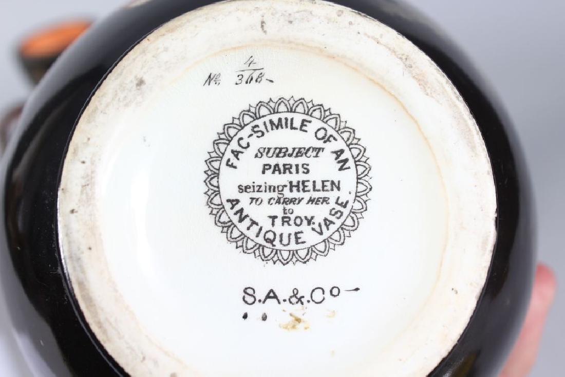 TWO VASES , FACSIMILE OF AN ANTIQUE VASE, both Paris - 3