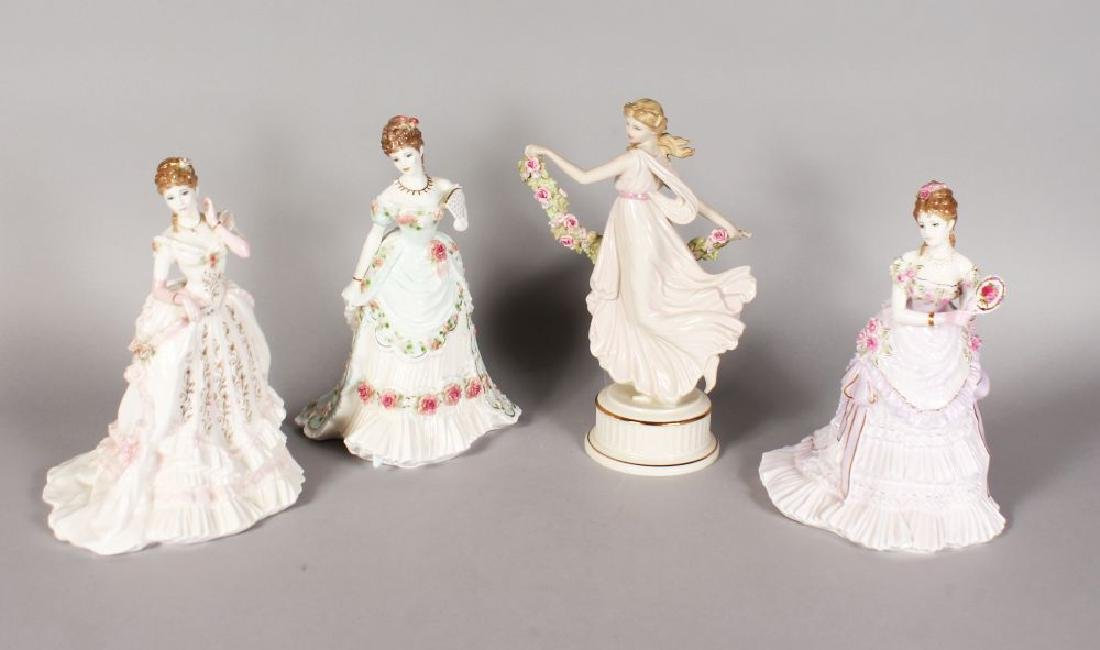 THREE ROYAL WORCESTER FIGURES, 'SPLENDOUR AT COURT' and