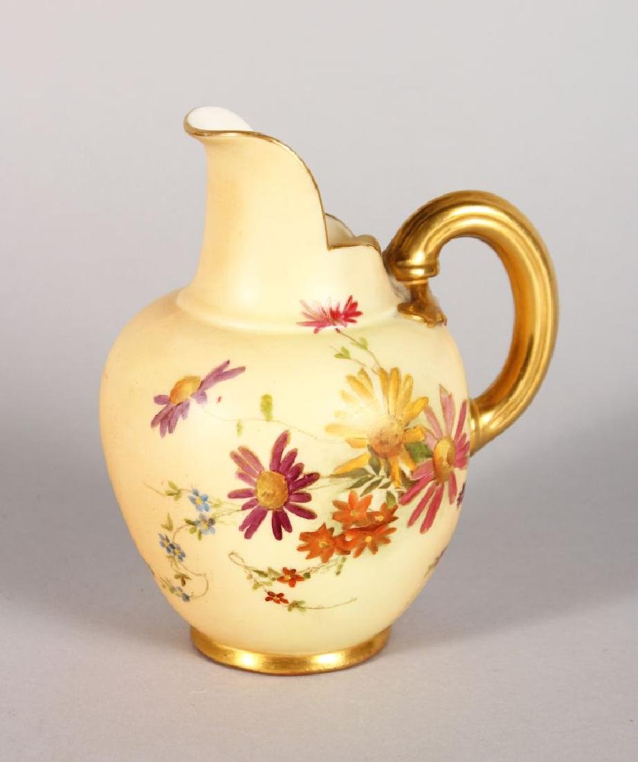 A ROYAL WORCESTER JUG, painted with flowers, Pattern