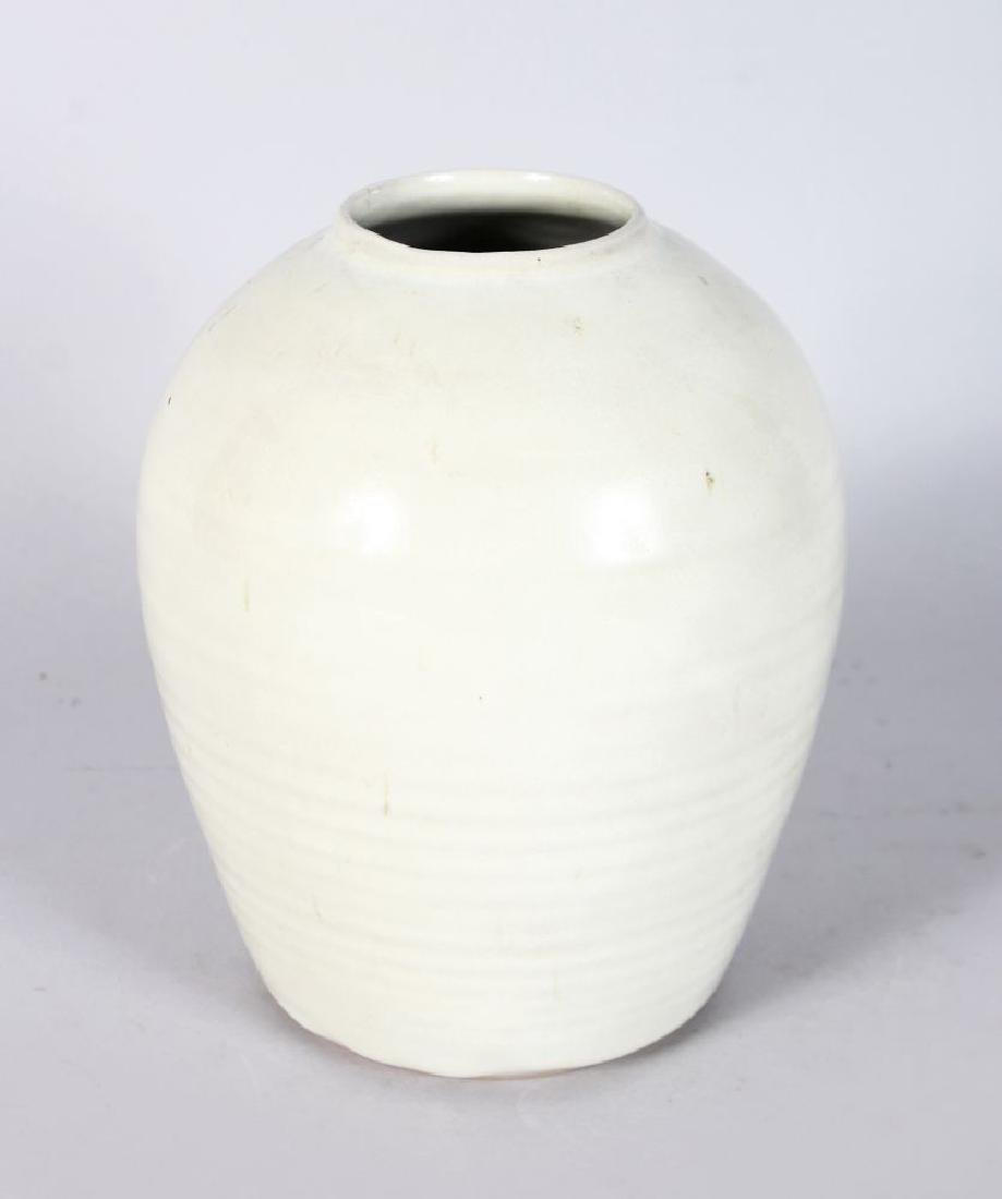 A BULBOUS VASE by RUPERT SPIRA, potted in a Korean