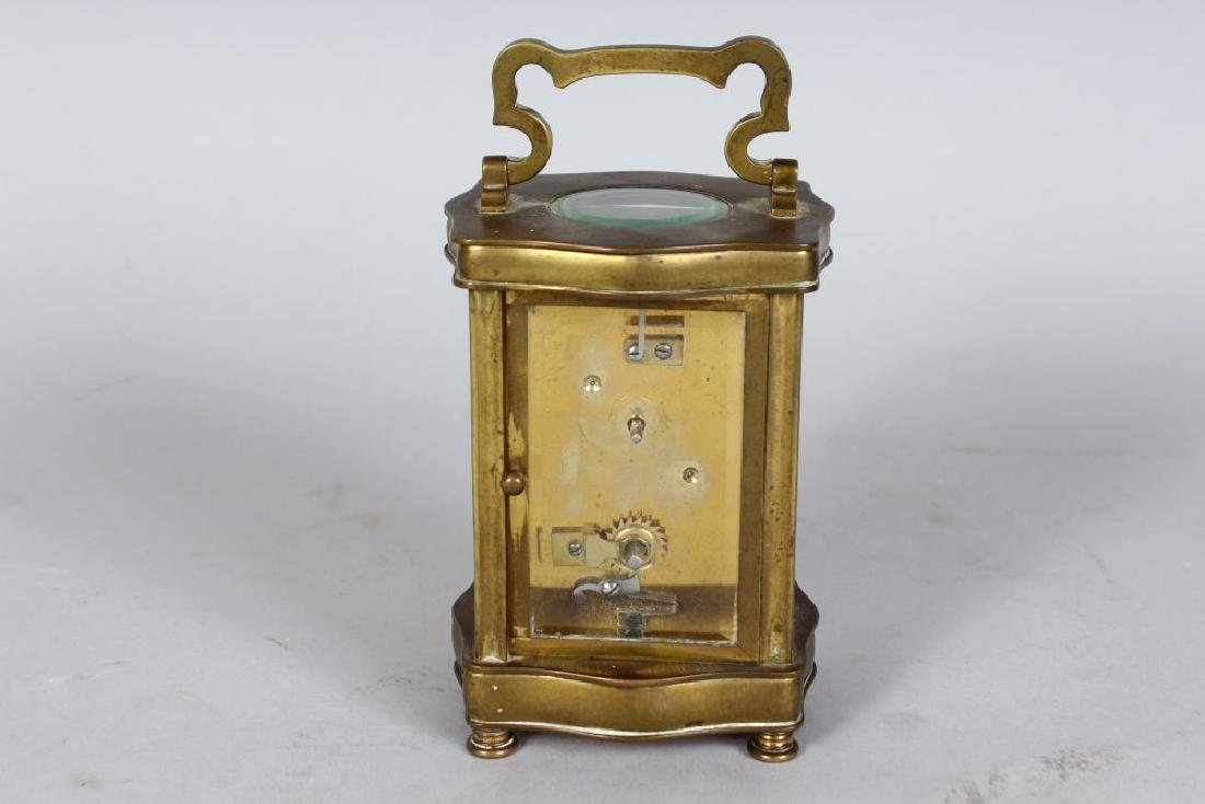 A 19TH CENTURY FRENCH BRASS SERPENTINE FRONTED CARRIAGE - 2