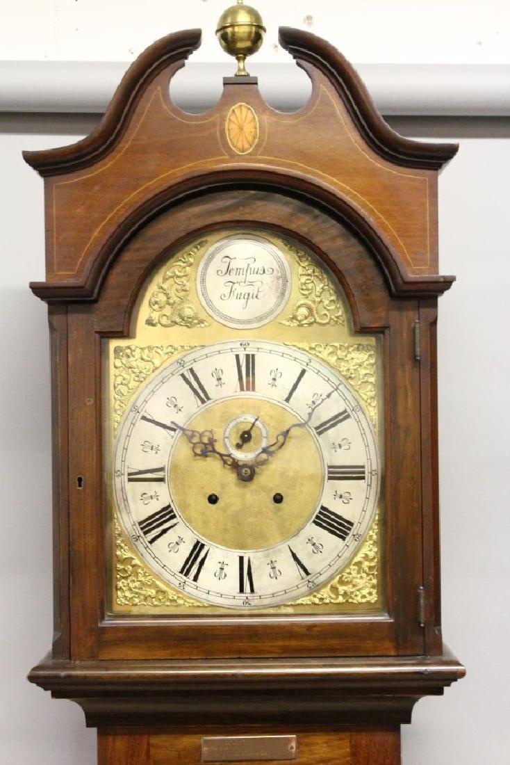 AN EDWARDIAN MAHOGANY LONGCASE CLOCK, with eight-day - 2