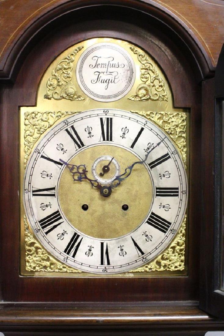 AN EDWARDIAN MAHOGANY LONGCASE CLOCK, with eight-day - 3