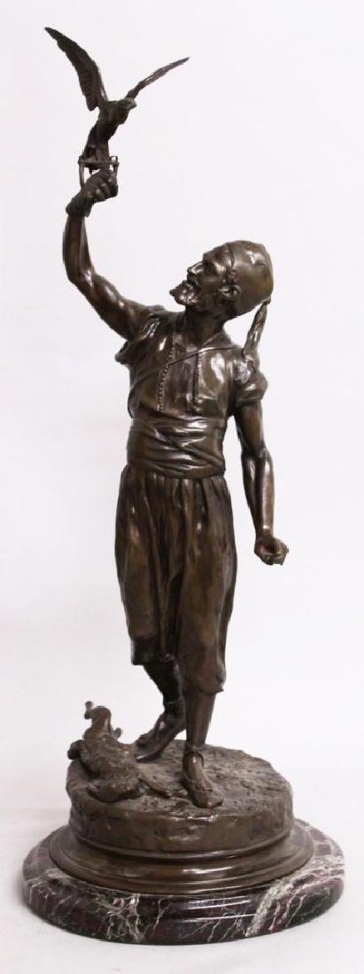 "P. J. MENE (1810-1879) FRENCH  ""THE FALCONER"".  An Arab"