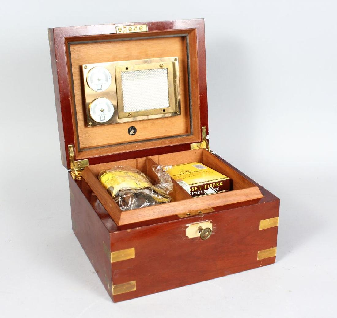A DUNHILL CIGAR HUMIDOR with approximately fifty Cuban
