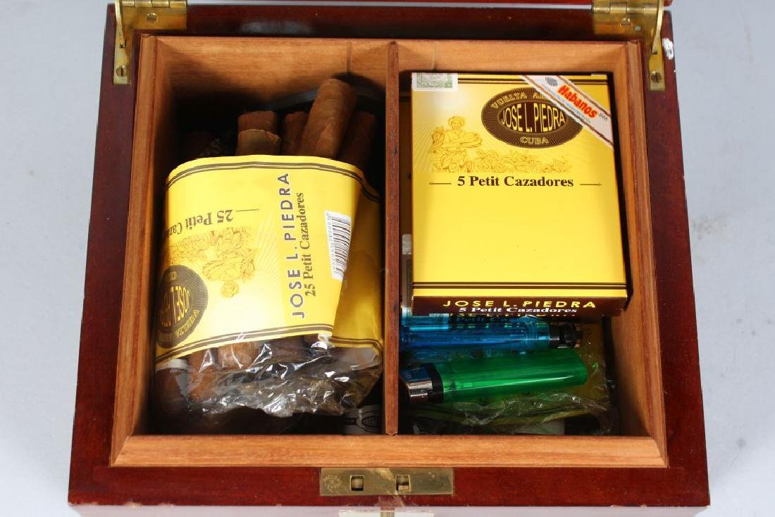 A DUNHILL CIGAR HUMIDOR with approximately fifty Cuban - 3