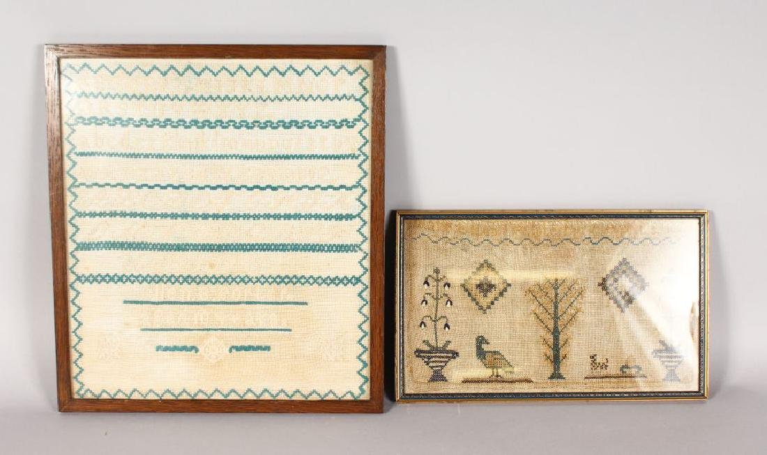 TWO VICTORIAN SAMPLERS.