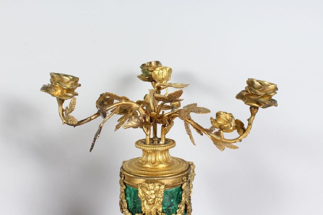A VERY GOOD PAIR OF LOUIS XVI MARBLE AND ORMOLU URN - 3