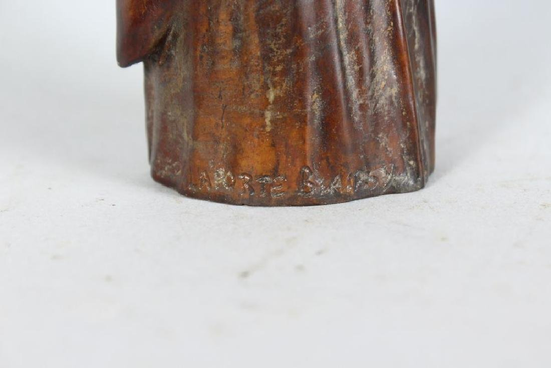 LEO LAPORTE BLAIRSY, a small bronze of a young girl - 3