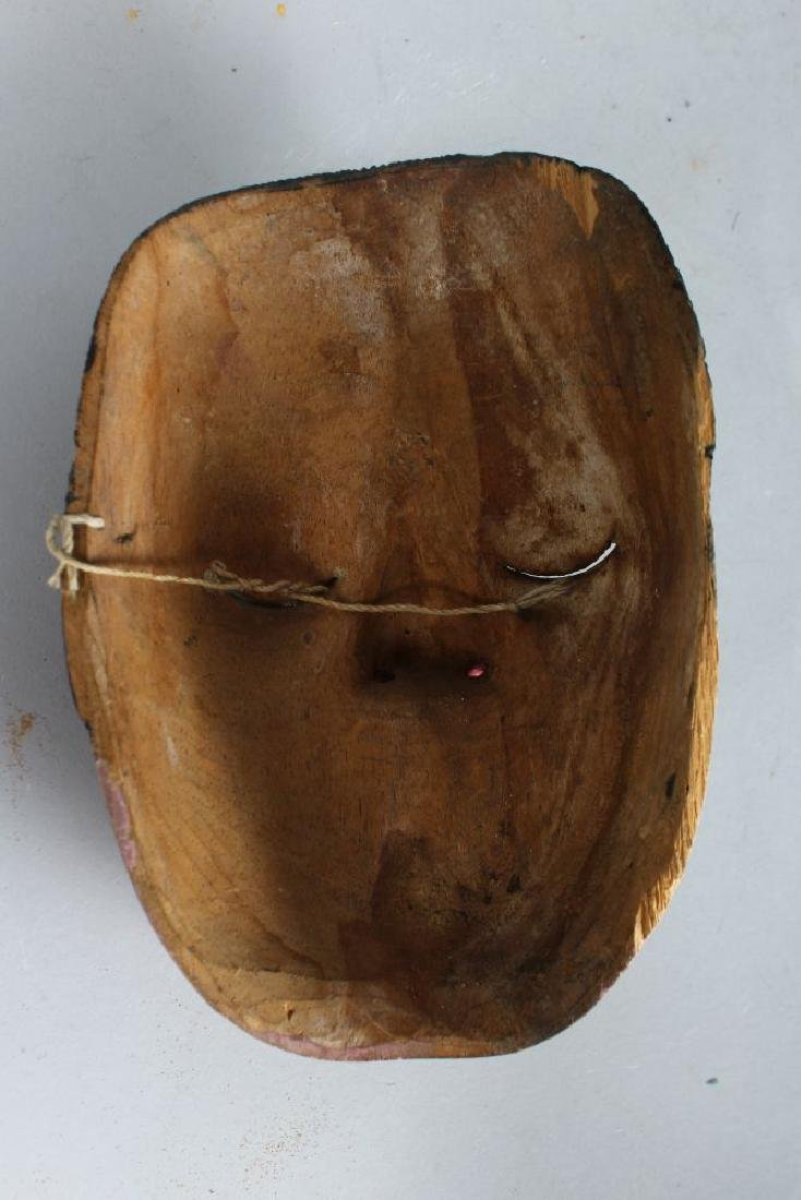 A POLYCHROME CARVED WOODEN DANCE MASK (TOPENG) - 2