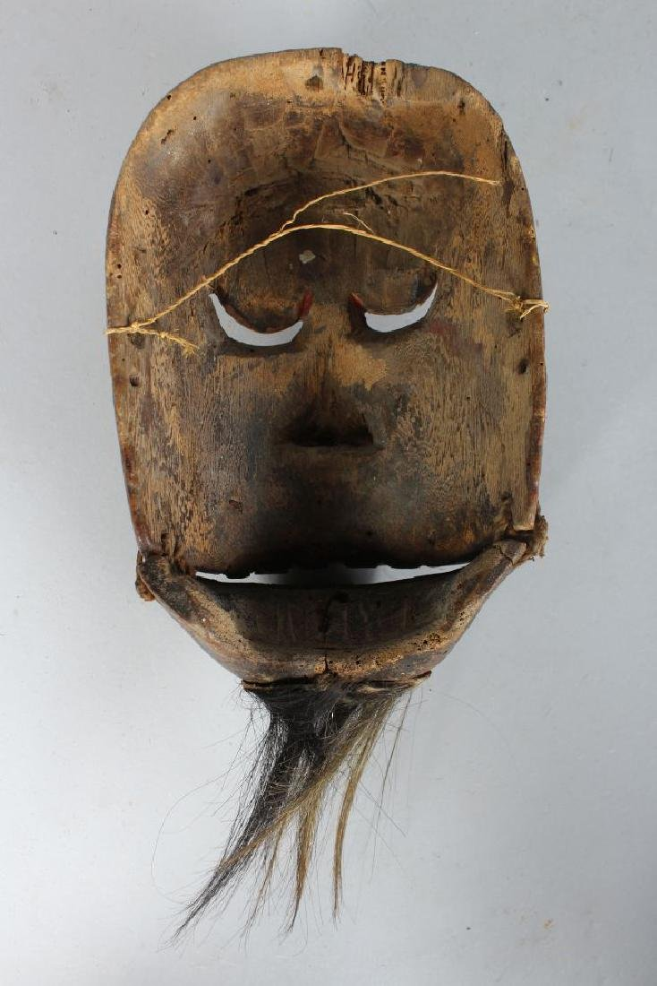 A POLYCHROME CARVED WOODEN DANCE MASK (TOPENG) of Kebo - 2