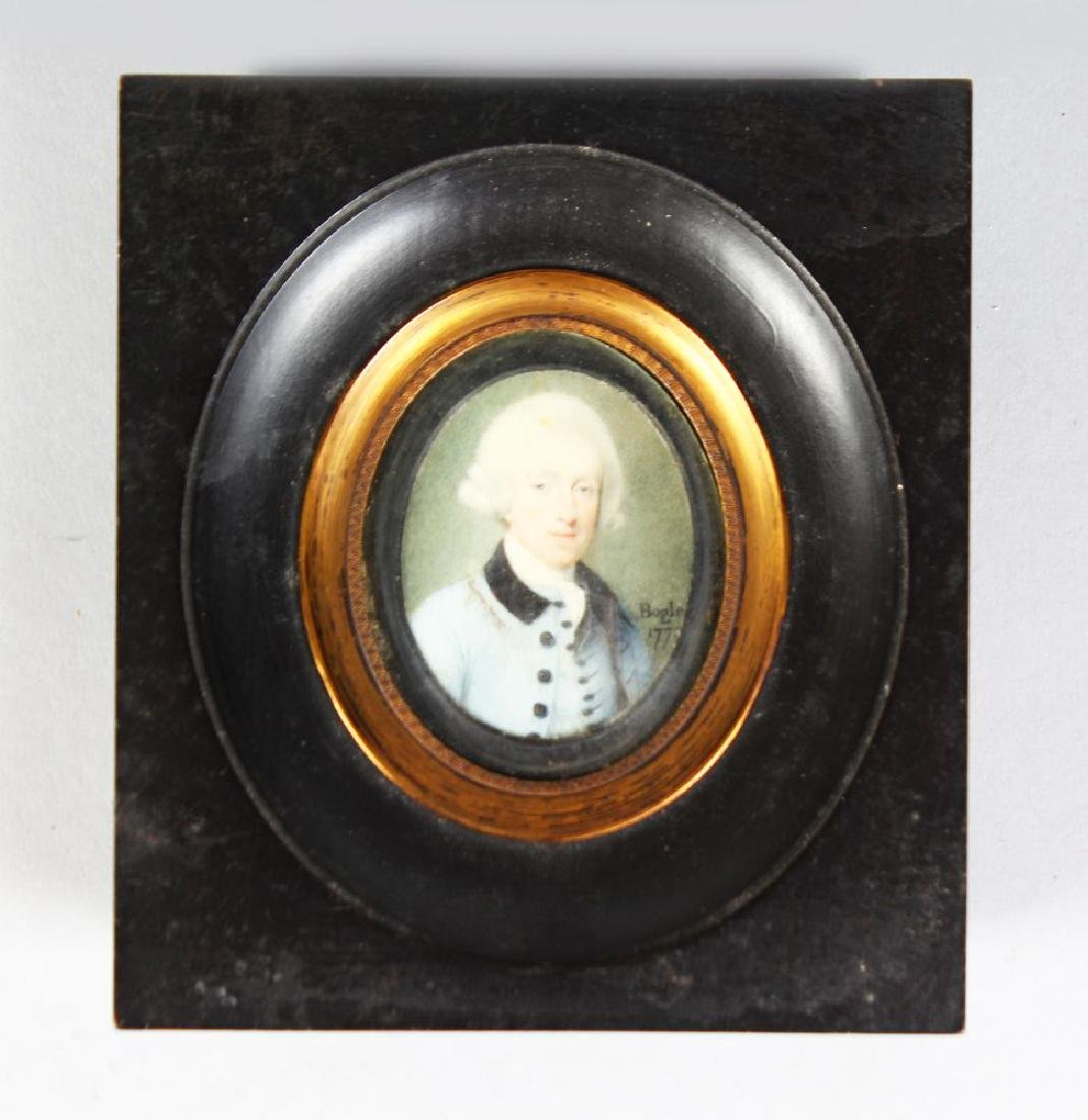 JOHN BOGLE (1769-1804) BRITISH. Portrait miniature,