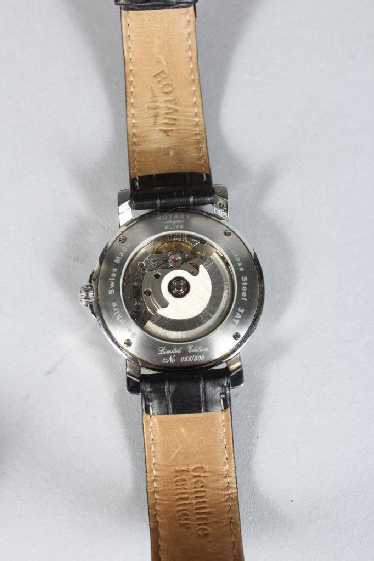 A ROTARY ELITE LIMITED EDITION WATCH, 55/500, automatic - 3