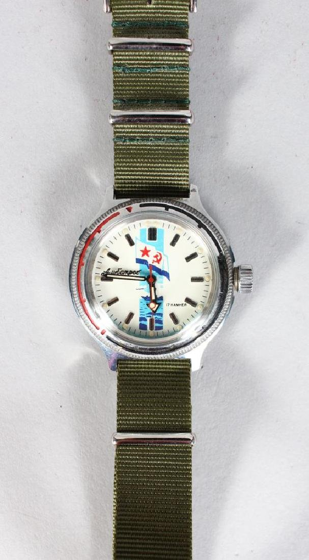 A RUSSIAN NAVY WATCH 17 KAMHEN in fitted box.