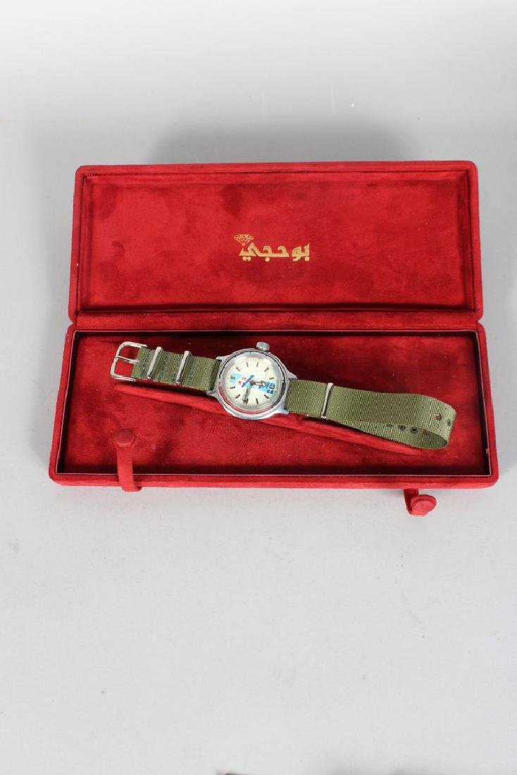 A RUSSIAN NAVY WATCH 17 KAMHEN in fitted box. - 2