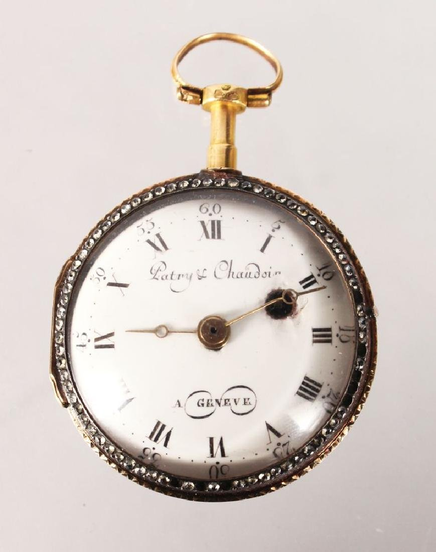 A SMALL 18TH CENTURY GOLD POCKET WATCH by PATRY &