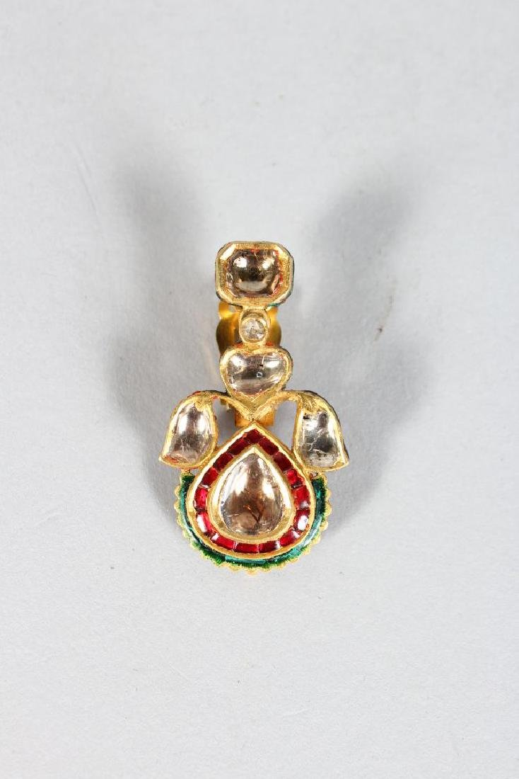 A SUPERB DIAMOND AND RUBY ENAMEL BACK GOLD NECKLACE and - 2