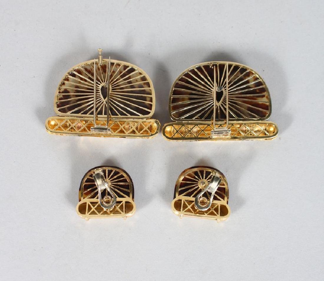 A GOOD PAIR OF DAMINI ASOLO 18CT GOLD TORTOISESHELL AND - 2