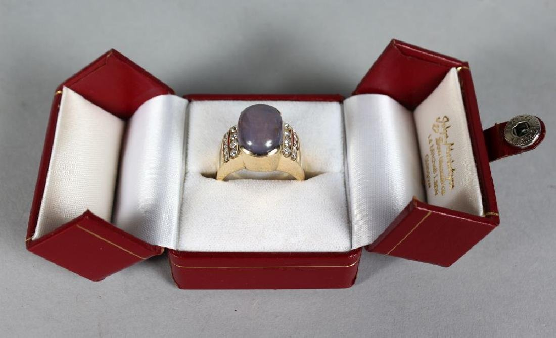 A VERY SUBSTANTIAL 14CT YELLOW GOLD SAPPHIRE AND - 2