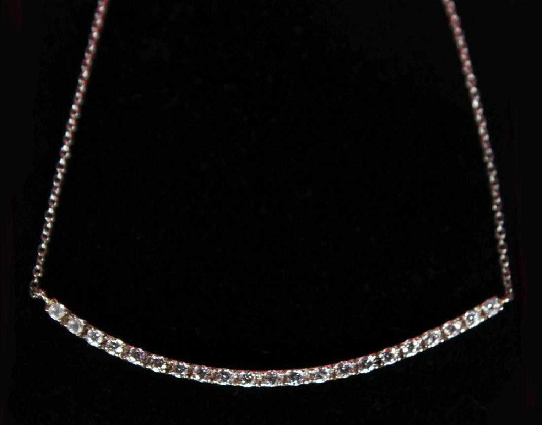 AN 18CT WHITE GOLD DIAMOND NECKLACE OF BAR FORM 50 - 2