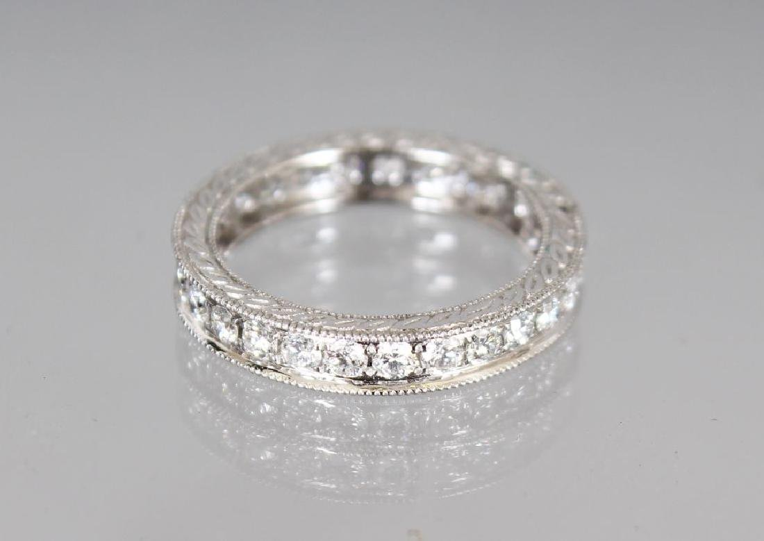 AN 18CT WHITE GOLD FULL DIAMOND ETERNITY RING of
