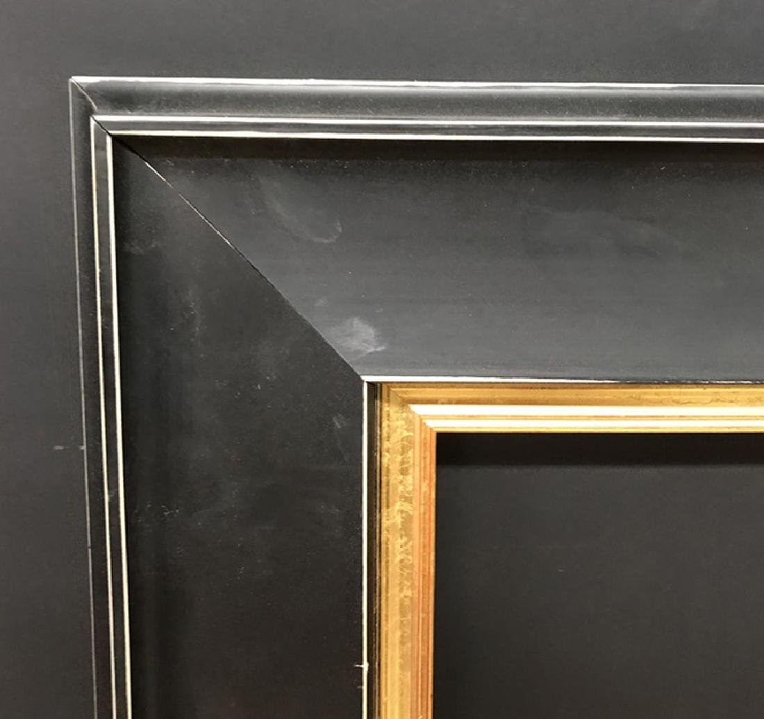 20th Century English School. A Black and Gilt Frame,