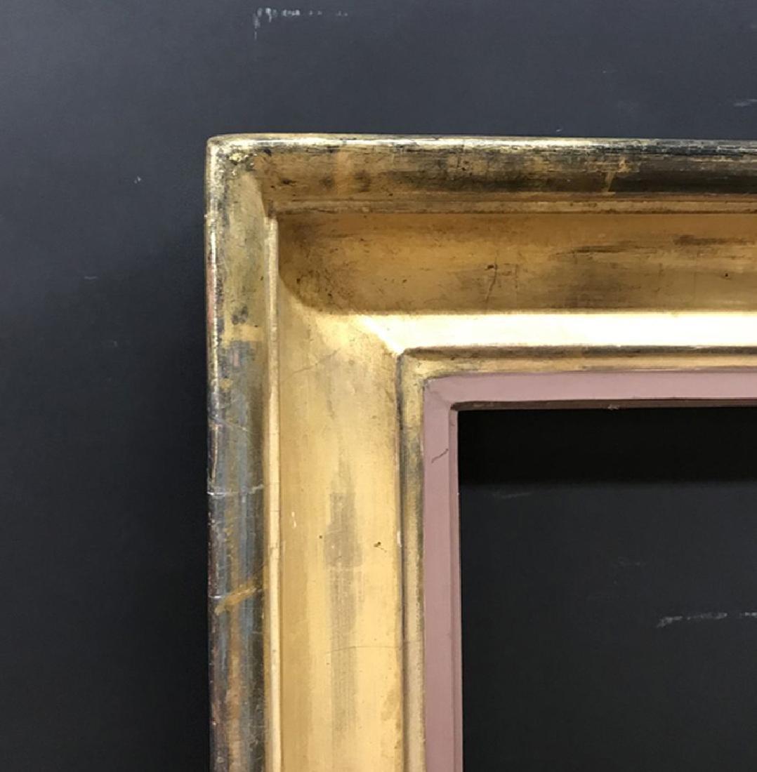 19th Century English School. A Gold Leaf Hollow Frame,