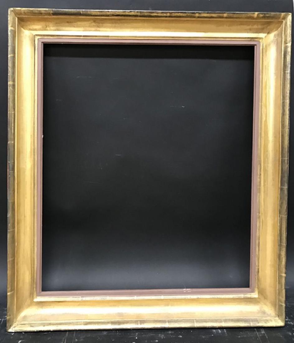 19th Century English School. A Gold Leaf Hollow Frame, - 2