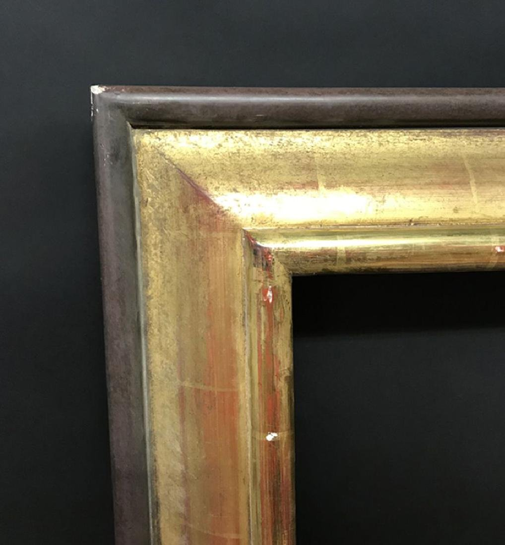 20th Century English School. A Gilt Frame, with painted