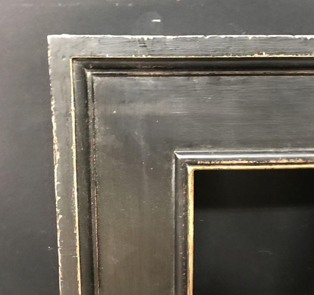 20th Century Italian School. A Painted Black Frame with