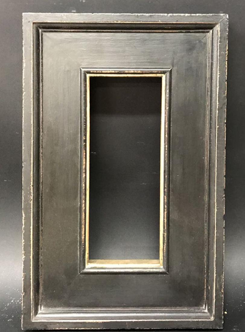 20th Century Italian School. A Painted Black Frame with - 2