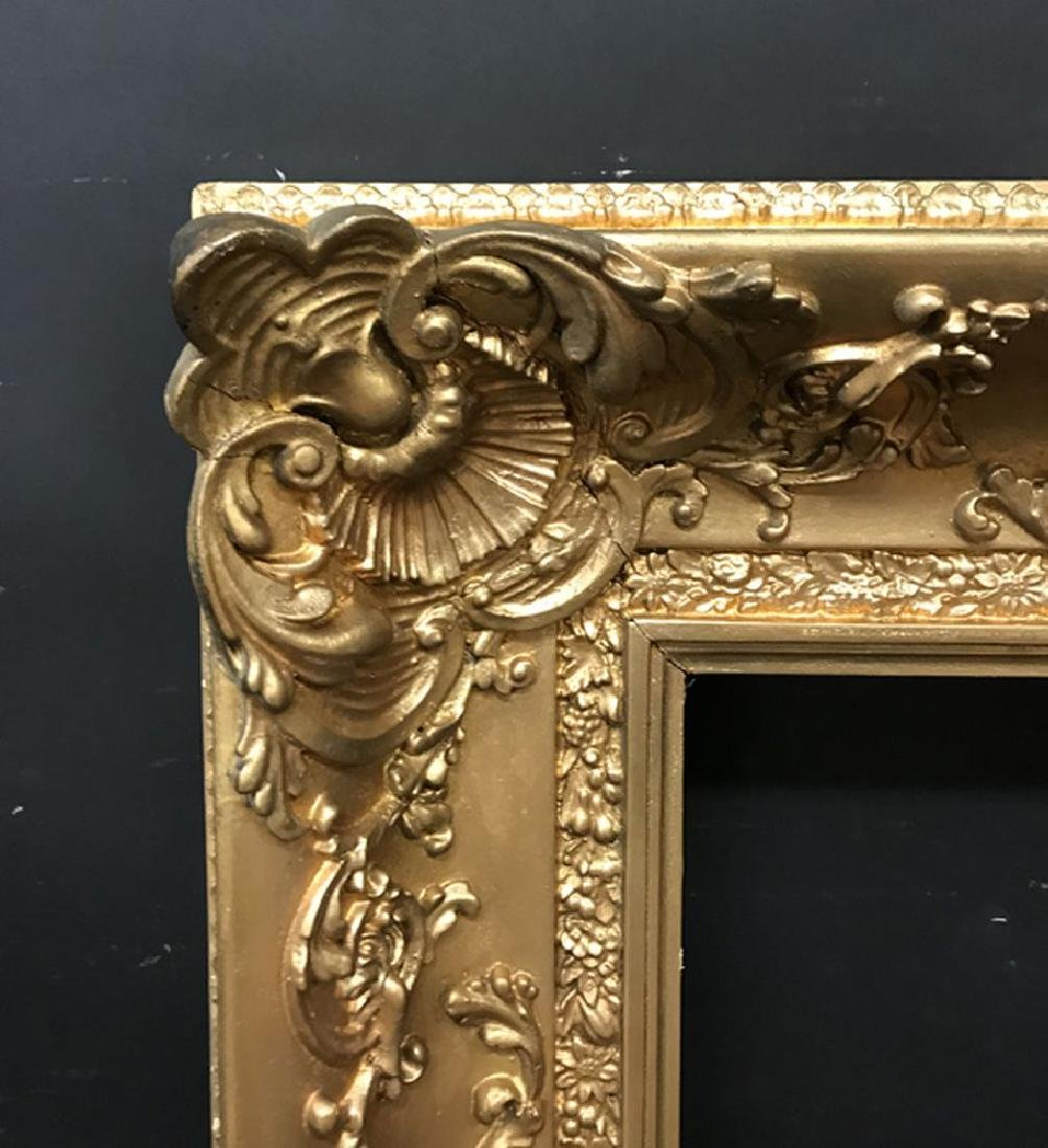 A 19th Century English School.  Swept Gilt Composition