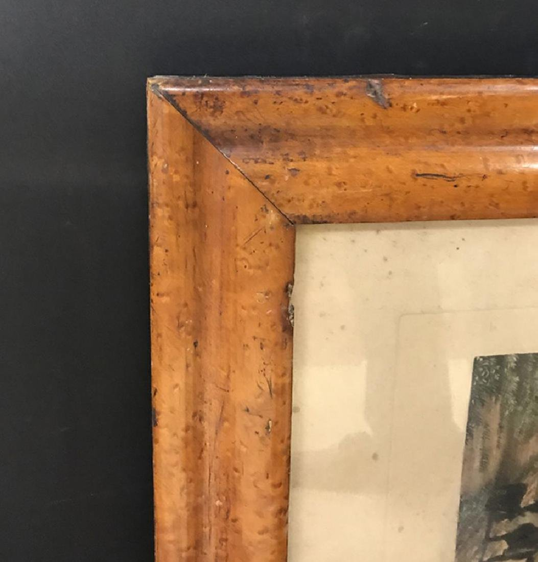 19th Century English School. A Maple Frame with inset